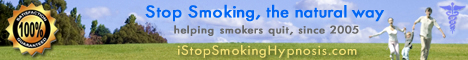 Stop Smoking Hypnosis - Quit Smoking the Natural Way - Custom Web Design & Header Graphics